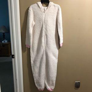 White sheep pajama onesie size M